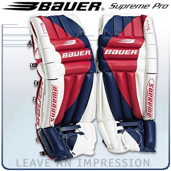 Bauer Supreme Pro Leg Pads Final Clearance Senior