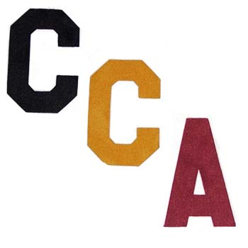 4 inch Twill Captain's Letters