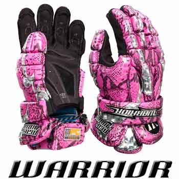 Warrior Mac Daddy Limited Edition Pink Gator Lacrosse Gloves