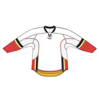 Calgary 25P00 Edge Gamewear Jersey (Uncrested) - White- Senior