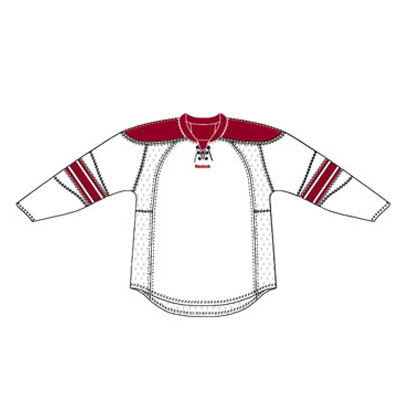 Phoenix 25P00 Edge Gamewear Jersey (Uncrested) - White- Senior