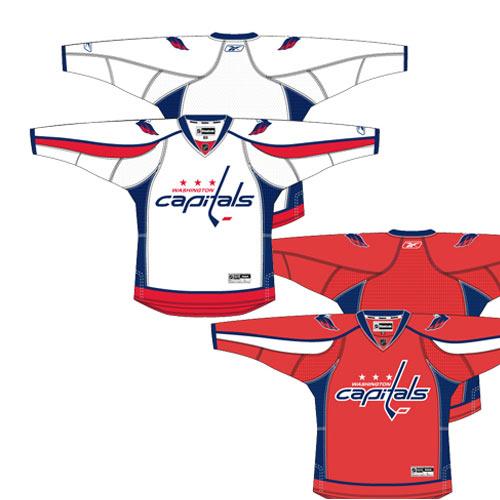 Reebok 7185 Center Ice Premier NHL Team Jersey- Washington Sr