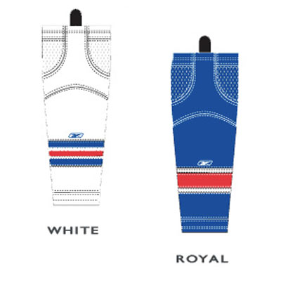 Reebok SX100 New York Rangers Edge Gamewear Socks- Junior