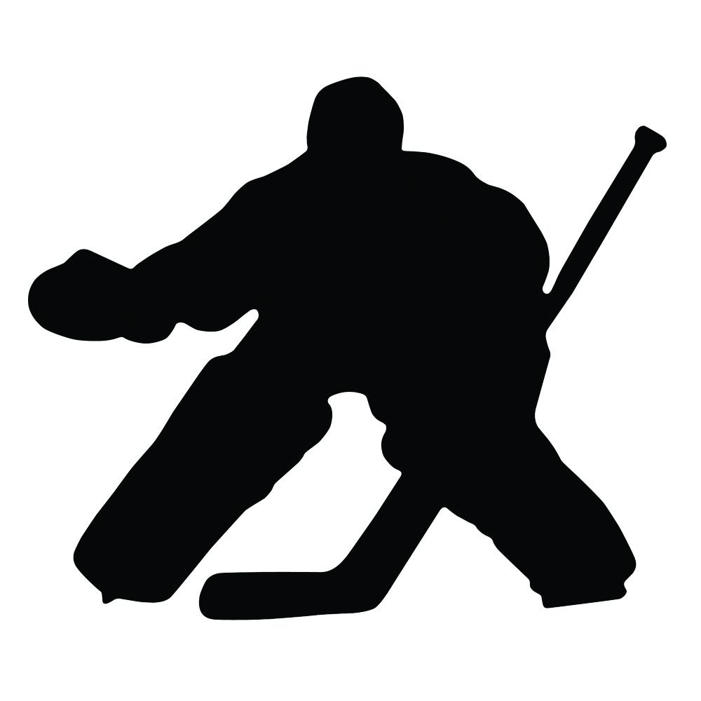 A R Hockey Goalie Magnet