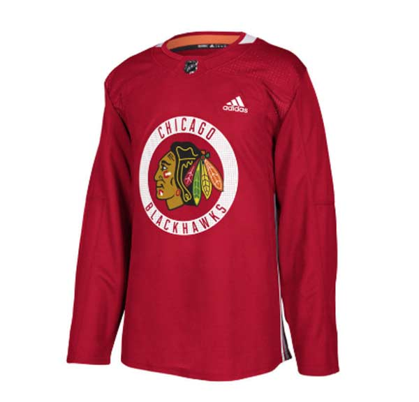 ADIDAS NHL Authentic Pro Chicago Practice Jersey- Sr