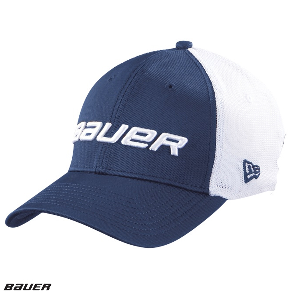 BAUER/NEW ERA 39Thirty Navy Mesh Back Cap