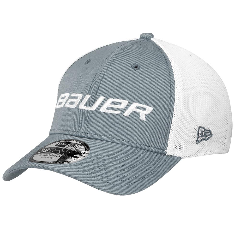 BAUER New Era Mesh Back Grey Cap- Sr 5f355e6be62