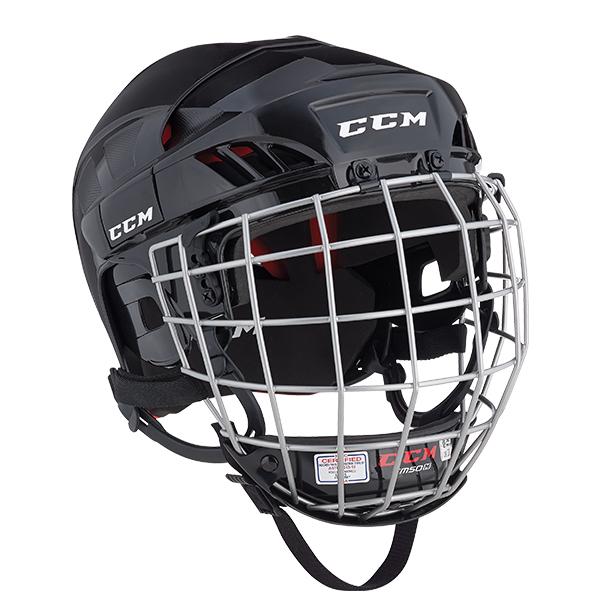 CCM HT50 Hockey Helmet Combo- Sr