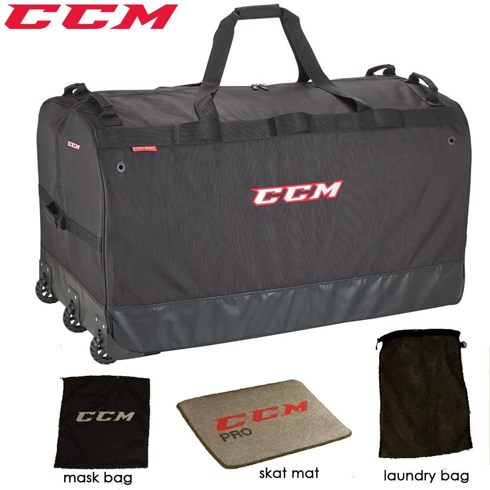 Ccm Pro Wheeled Goal Bag W Skate Mat 44
