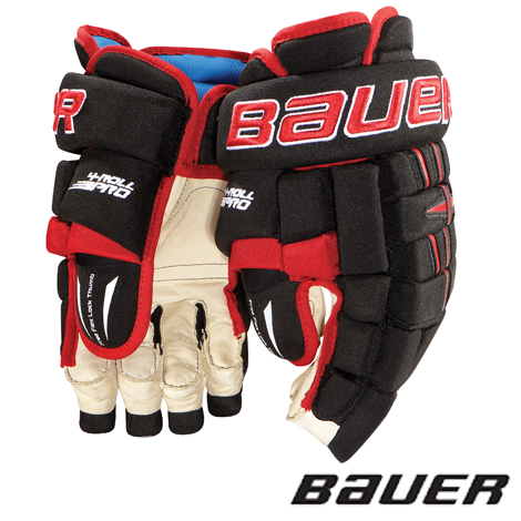 bb6a3167fc5 Bauer 4 Roll Pro Hockey Gloves- Jr  11