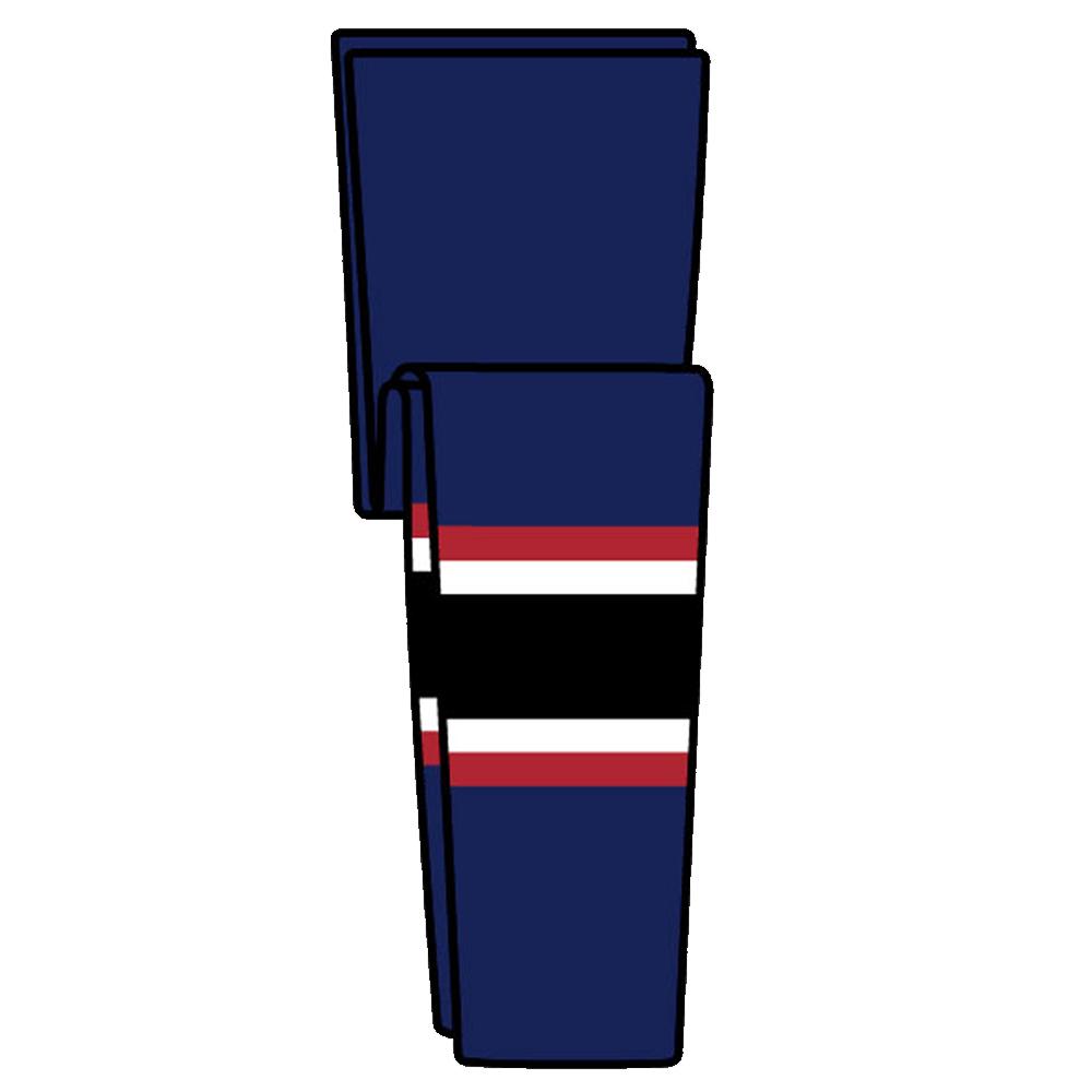 KOBE 9800 Knitted Columbus Hockey Socks- Int