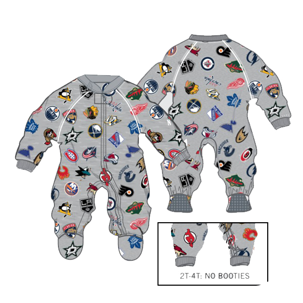 OUTERSTUFF All Team Logo Raglan Coverall- Infant