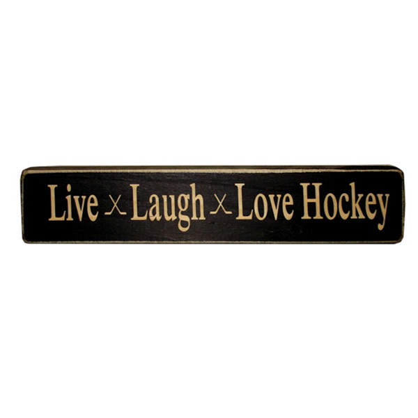PAINTED PASTIMES Live Laugh Love Hockey