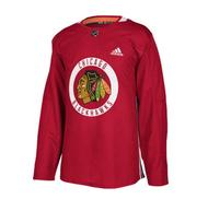 ADIDAS NHL Authentic Pro Chicago Practice Jersey- Sr 40cea1e70da