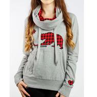 Gongshow Republic Of Plaid Womens Sweatshirt