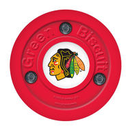 Green biscuit NHL Team Training Puck