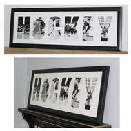 PAINTED PASTIMES Hockey Matted Frame