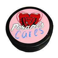 Peranis Cares Pink Custom Pucks